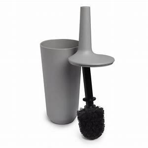 Umbra fiboo toilet brush set grey black by design for Umbra bathroom accessories