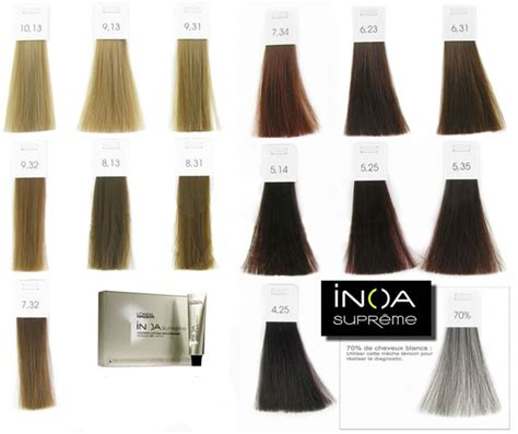 inoa supreme colour chart inoa hair color hair colors idea in 2019