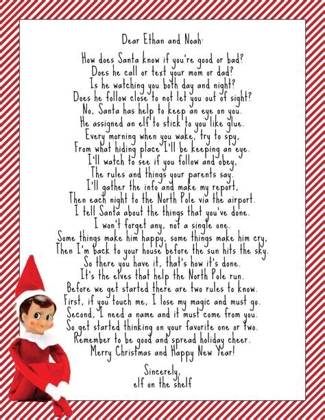 letter from elf on the shelf more than 9 to 5 my as quot quot the 22851 | Elf on the Shelf Intro Letter