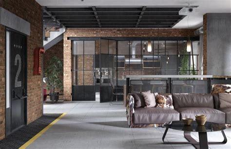 loft kitchen ideas contemporary kitchen design and living area in loft style