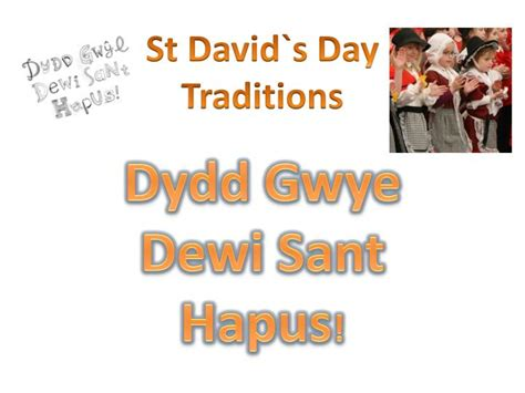 st s day traditions ppt st david s day traditions powerpoint presentation id 2713292