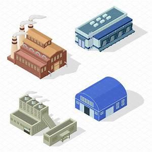 Isometric Factory Vector Set