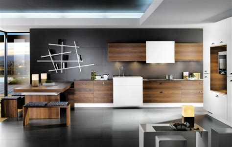 cuisine marron couleur mur cuisine bois cuisine sur 1 mur blanc