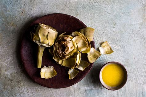 steamed artichokes  lemon butter recipe nyt cooking