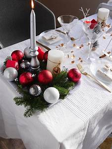 Deco Table Noel Rouge Dcoration Une Table De Nol Toute