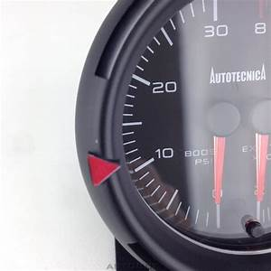 Water Temperature And Oil Pressure Dual Gauge With 60mm