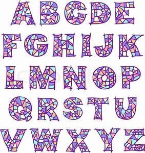 Violet mosaic alphabet stock vector colourbox for Mosaic letters alphabet