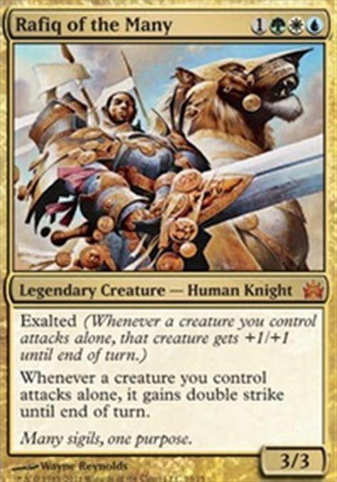 Mtg Exalted Deck Edh by Rafiq Of The Many Enchantments Commander Edh Mtg Deck