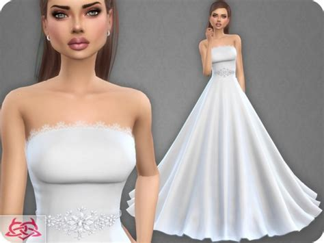 The Sims Resource: Wedding Dress 9 by Colores Urbanos