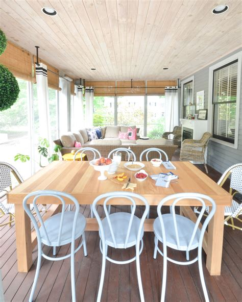 screened porch updates metal bentwood chairs   diy