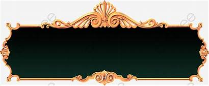 Background Title Gold Continental Clipart Banner Royal