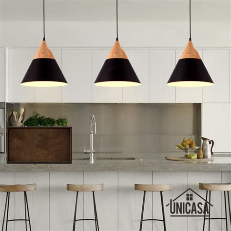 contemporary mini pendant lighting kitchen modern wood pendant lights industrial black aluminum mini 8323