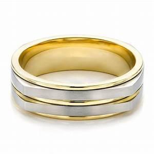Mens Wedding Bands Two Tone White Gold Locket