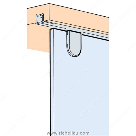 sliding cabinet door systems single roller track set in place 1510725 richelieu