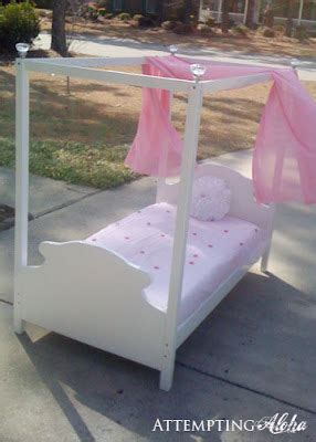 attempting aloha     toddler canopy bed tutorial