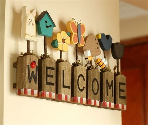 pcslot wood words home decoration wall  design