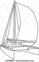 Catamaran Clipart Sailing Eps Fotosearch Clip Vector Drawings Illustration Graphic Csp290 sketch template