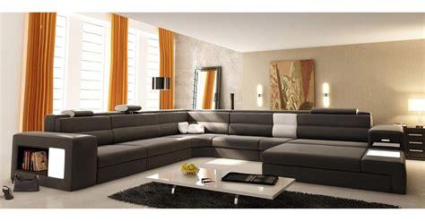 canapé d angle orange deco in canape panoramique cuir gris angle droit