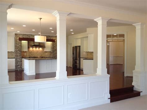 Kitchen Living Room Half Wall by Half Walls And Design Columns Basement Kitchen Family