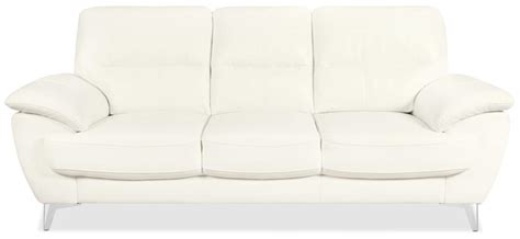 The Brick Leather Sofa by Leather Look Fabric Sofa Snow The Brick