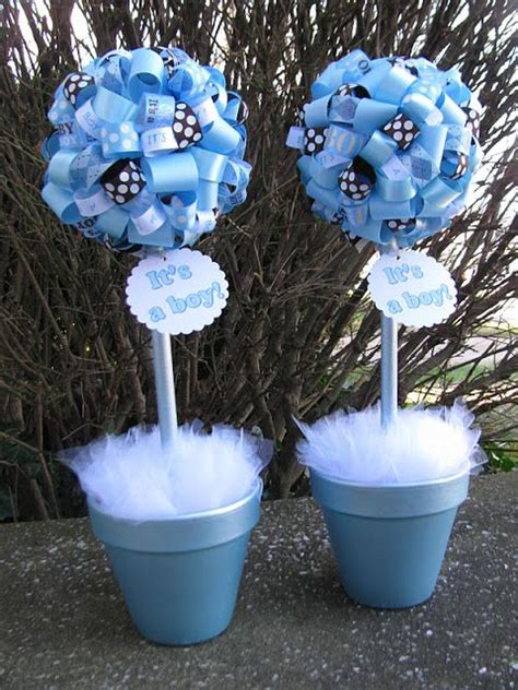 brown and baby blue baby shower decorations brown and blue baby shower centerpieces blue and brown