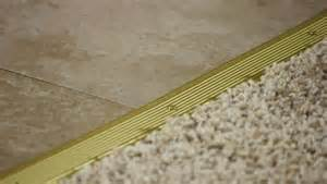 video how to install a transition strip from carpet to