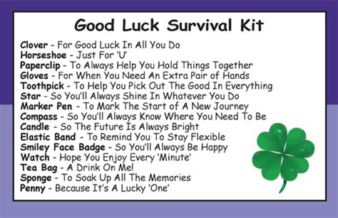 good luck survival kit