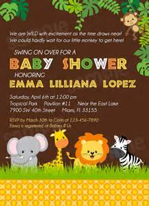 Zoo Themed Baby Shower Invitations
