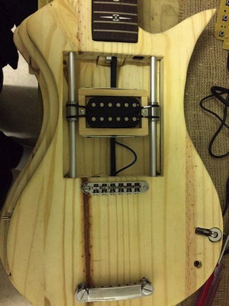 great custom guitar project with cool electric circuitry