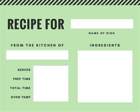 recipe card maker design  custom recipe card