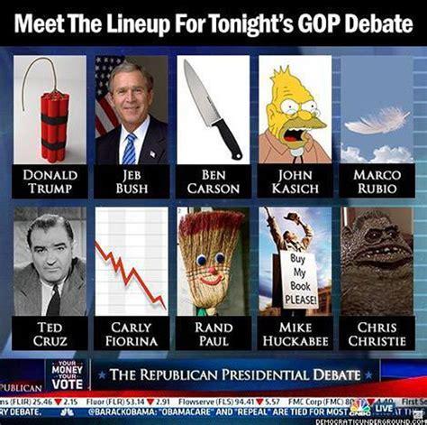 Memes Debate - funny memes skewering the 2016 gop candidates gop debate gop candidates and memes