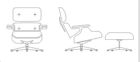 Bloques Autocad Gratis De Sillón Lounge Chair & Ottoman En