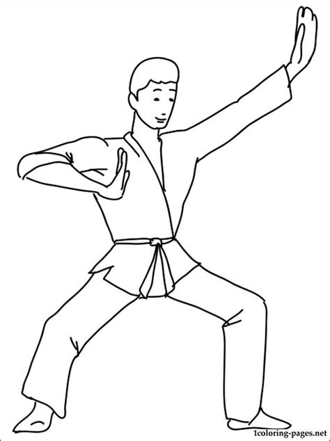 karate coloring page coloring pages