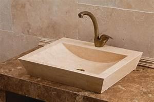 Vasque En Pierre : bremen vasque poser 45 x 60 cm ~ Teatrodelosmanantiales.com Idées de Décoration