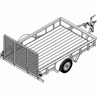 Trailer Utility Plans Blueprints Blueprint Axle Single