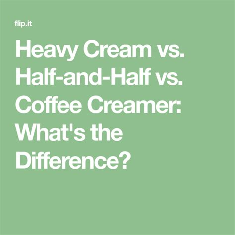 No matter how diligently coffee connoisseurs might swear by basic black coffee, most of us need a few of your options based on your diet: Heavy Cream vs. Half-and-Half vs. Coffee Creamer: What's the Difference? | Coffee creamer ...