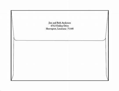 Envelope Template A7 Word Printable Templates Microsoft