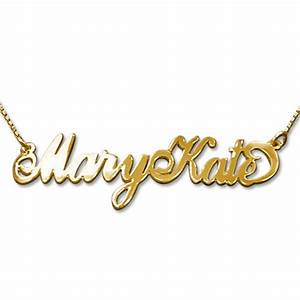 two capital letters 14k gold quotcarriequot style name necklace With write your name in gold letters