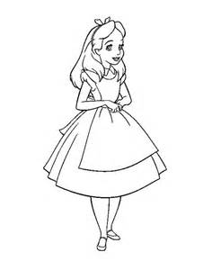 Disney Alice and Wonderland Coloring Pages
