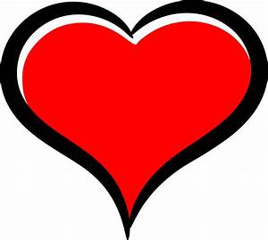 Clipart - Red heart