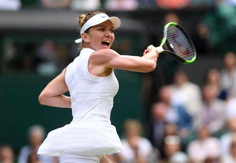 wimbledon  joy  watching simona halep playing tennis