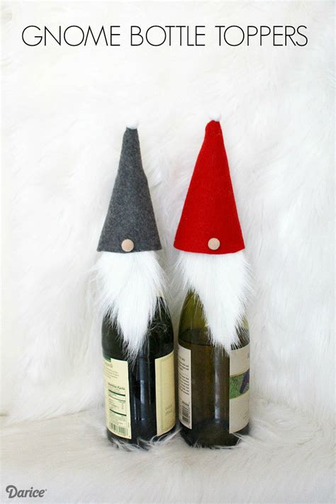 wine bottle crafts gnome bottle toppers darice