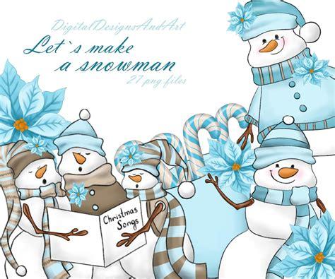cute snowman clipart  digitaldesignsandart