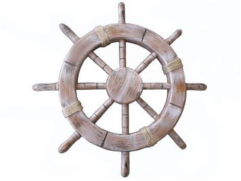 Boat Steering Wheel Home Decor by Rustic Seaworn Decorative Ship Wheel 18 Quot