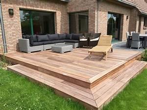 Maison En Bois Nord : terrasse ardoise et bois lille nord 59 paysagiste ~ Nature-et-papiers.com Idées de Décoration