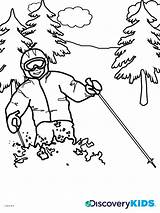 Coloring Skiing Ski Discovery Template Jump Popular Templates sketch template