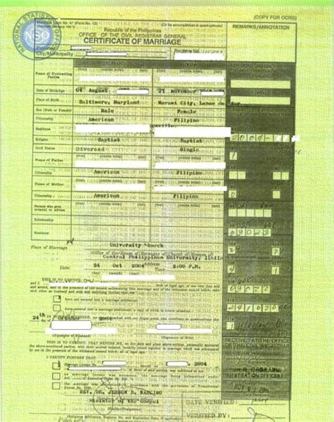 Nso philippines marriage certificate records altavistaventures Choice Image