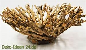 Deko Aus Holz : dekoration aus naturmaterialien der korbteller deko blog ~ Markanthonyermac.com Haus und Dekorationen