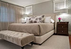 Tapeten Schlafzimmer Grau : tapeten im schlafzimmer 26 wohnideen f r akzentwand ~ Markanthonyermac.com Haus und Dekorationen