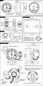 Racer Gauge Specifications 3 1  8in  80mm  Tachometer